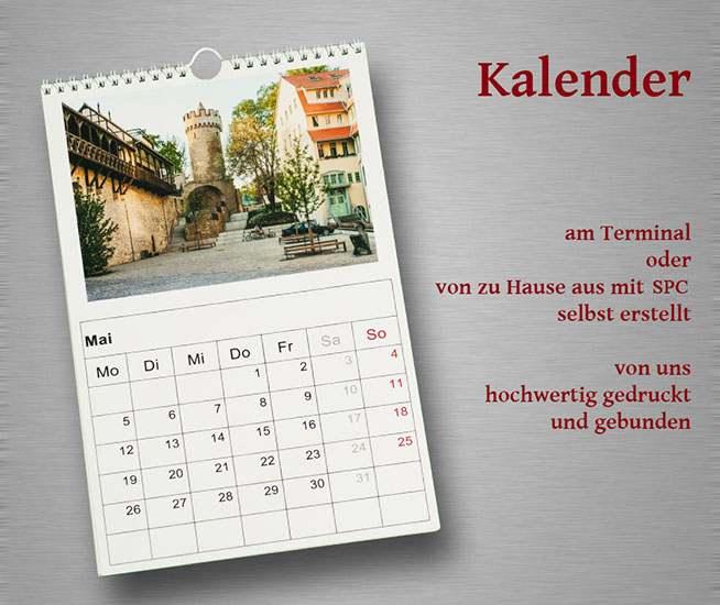 Monats-Kalender mit meigenen Bildern