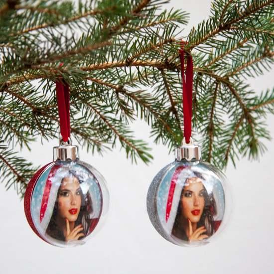 Weihnachtsbaumkugel mit eigenem Bild