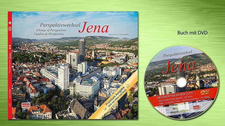 Buch Jena Perspektivwechsel Premium mit Panoramaaufnahmen