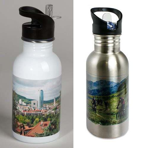 funktionale Trinkflasche mit eigenem Bild