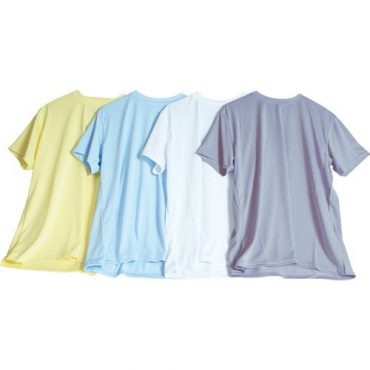 Funktionsshirts in verschiedenen Farben, die sich beducken lassen.